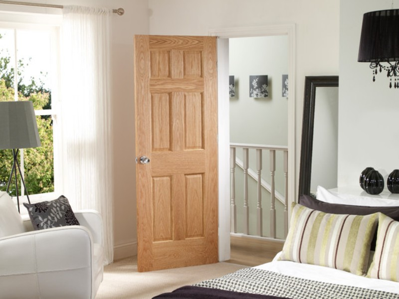 Oak Six Panel Interior Doors