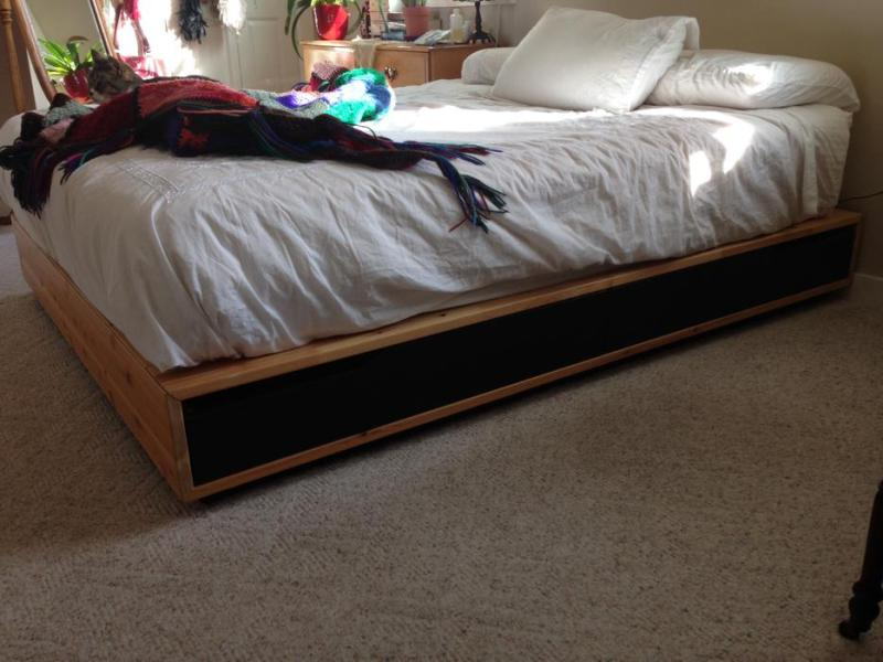 Platform Bed Frame Queen With Drawers Ikea