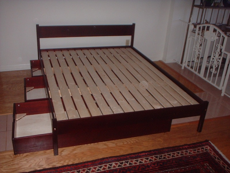 Platform Bed Frame Queen With Drawers