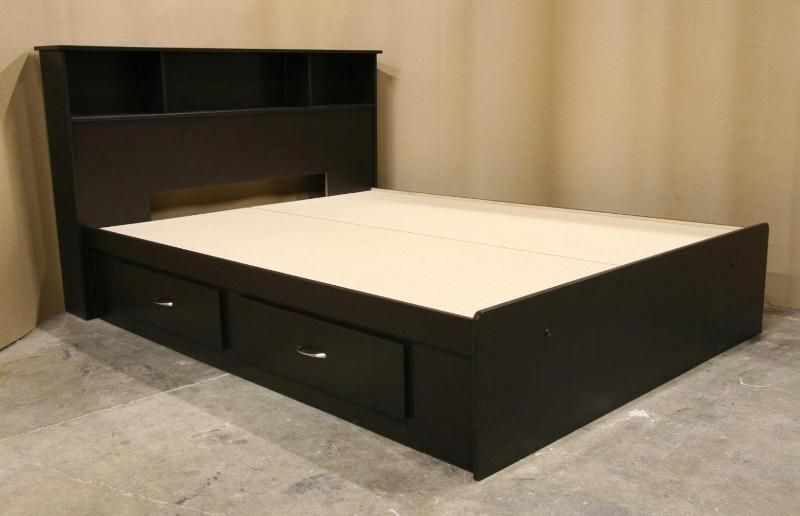 Platform Queen Bed Frame With Drawers