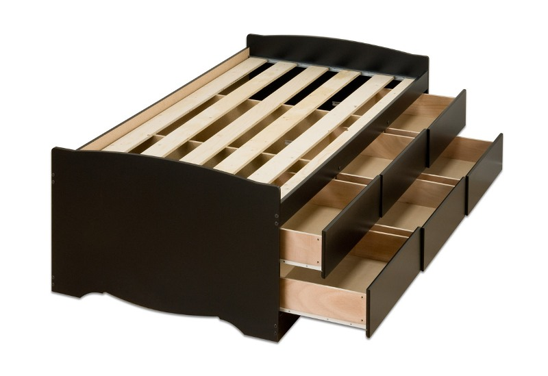 Picture of: Prepac 12 Drawer Storage Bed