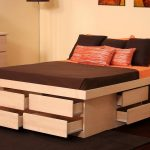 Queen Platform Bed Frame With Drawers Design
