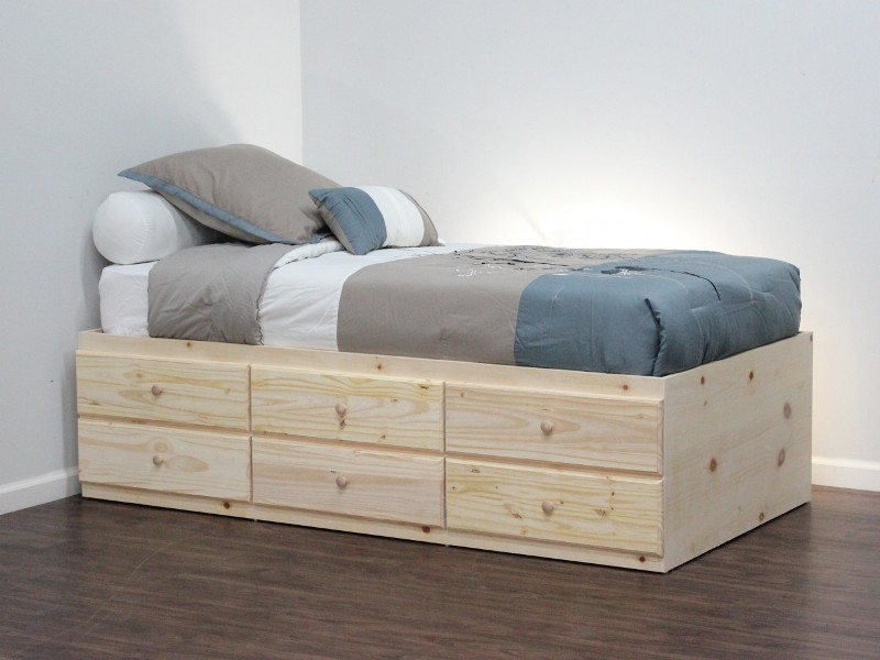 Queen Platform Bed Frame With Storage Drawers