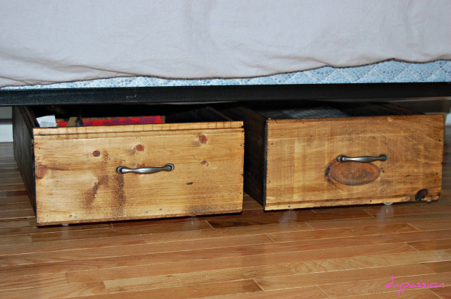 Set Of 2 Under Bed Storage Drawers Rolling Organizers
