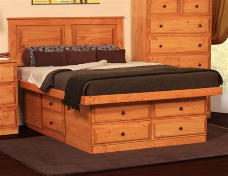 Simple King Beds With Storage Drawers Underneath