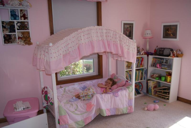 Image of: Toddler Bed Canopy Girl