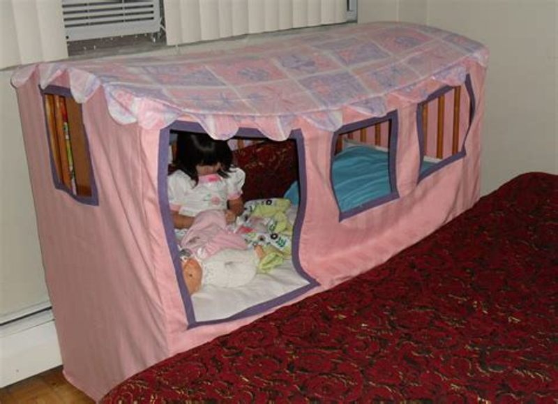Image of: Toddler Bed Tent Canopy