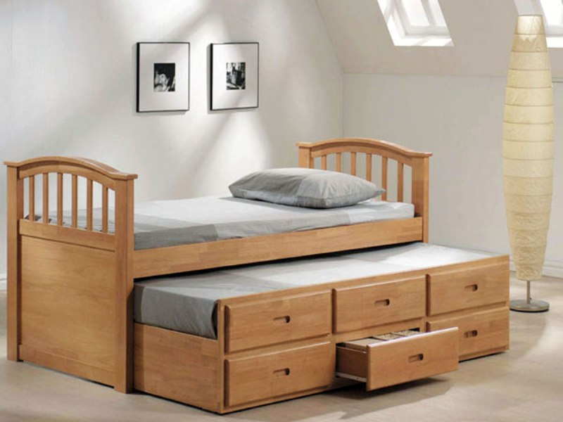 Toddler Bed With Drawers Underneath Design