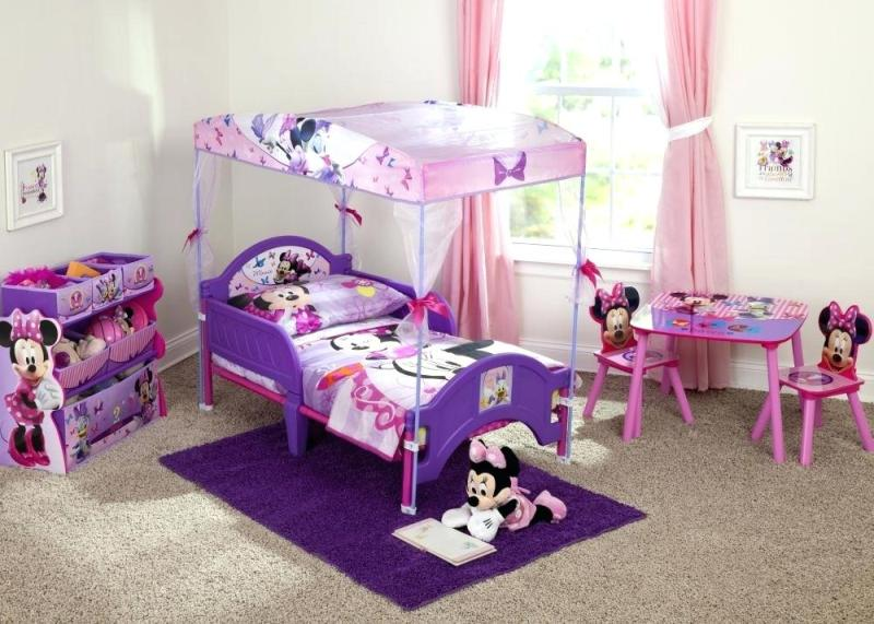 Image of: Toddler Canopy Bed Set