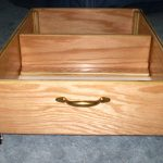 Wood Rolling Under Bed Storage Drawers