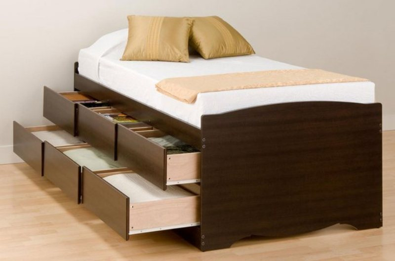 Bed Frame With Storage Drawers Queen