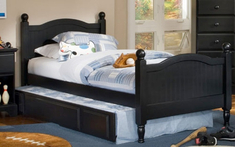 Black Twin Bed With Trundle And Drawers