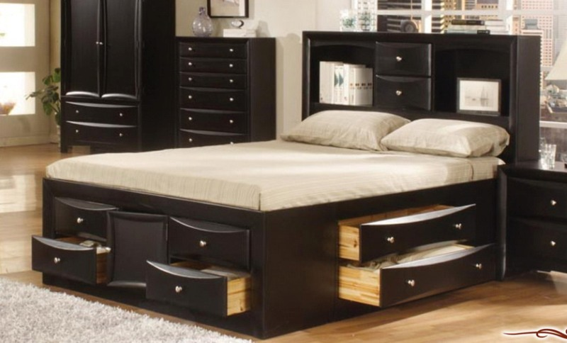 Picture of: Build Queen Size Bed Frame With Drawers