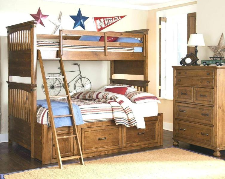 Image of: Bunk Bed With Trundle And Drawers