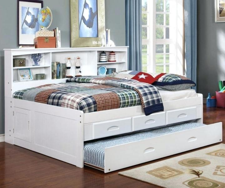 Picture of: Captains Bed With Trundle And Storage Drawers