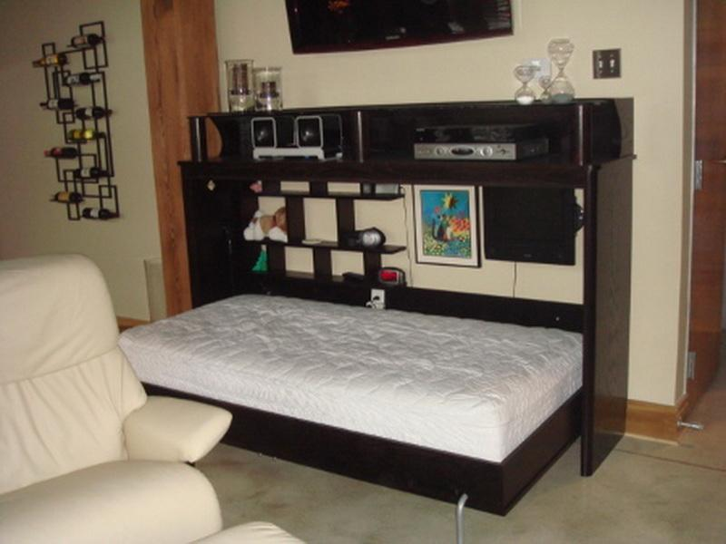 Image of: Dimensions Of A Twin Murphy Bed