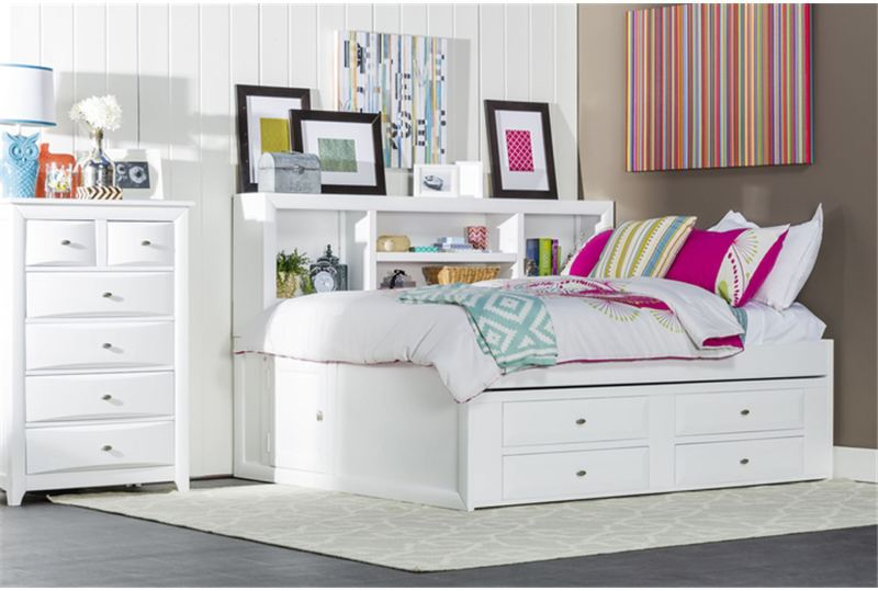 Picture of: Modern Full Size Trundle Bed With Storage Drawers