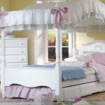 Full Size White Canopy Bed