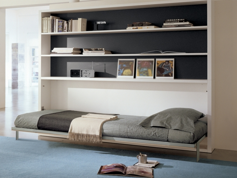 Picture of: Horizontal Twin Murphy Bed