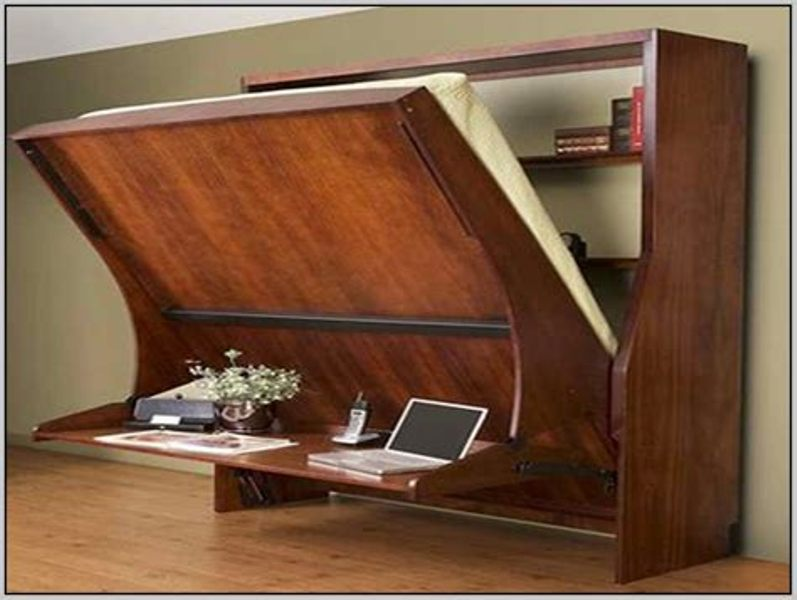 Image of: Ikea Murphy Bed With Desk Design