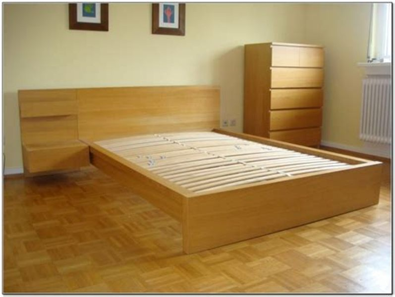 Picture of: Ikea Queen Size Bed Frame With Drawers