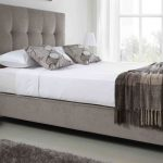 King Size Fabric Bed Frame With Storage