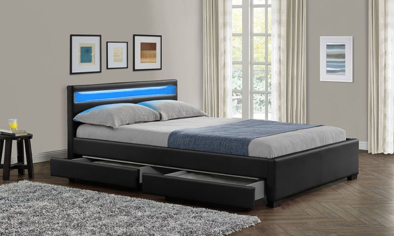 King Storage Bed Frame With Drawers