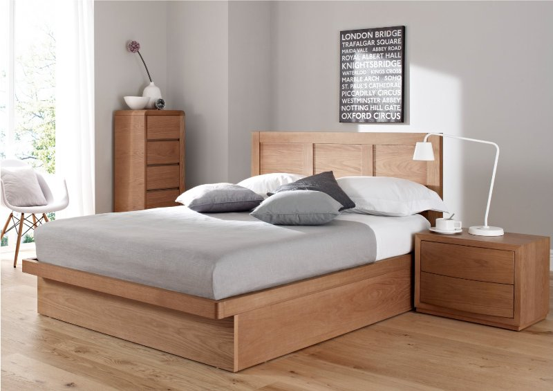 Picture of: Modern Queen Size Bed Frame With Drawers