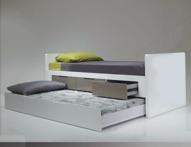 Image of: Modern Trundle Bed With Drawers