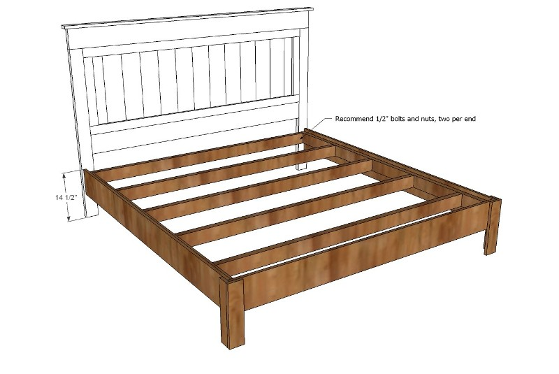 Picture of: Queen Size Bed Frame Plans With Drawers