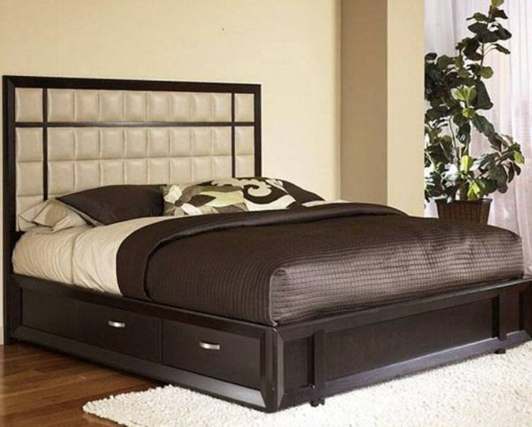 Picture of: Queen Size Bed Frame With Drawers Models