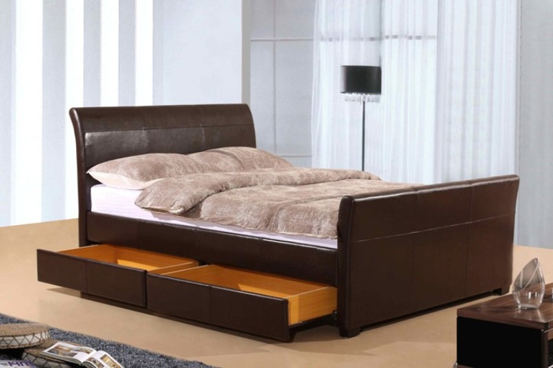 Picture of: Queen Size Bed Frame With Drawers Underneath