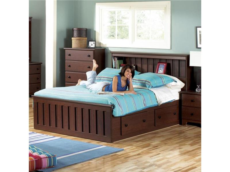 Picture of: Queen Size Platform Bed Frame With Drawers Design