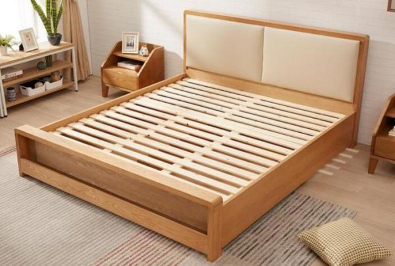 Picture of: Queen Size Wood Bed Frame With Drawers