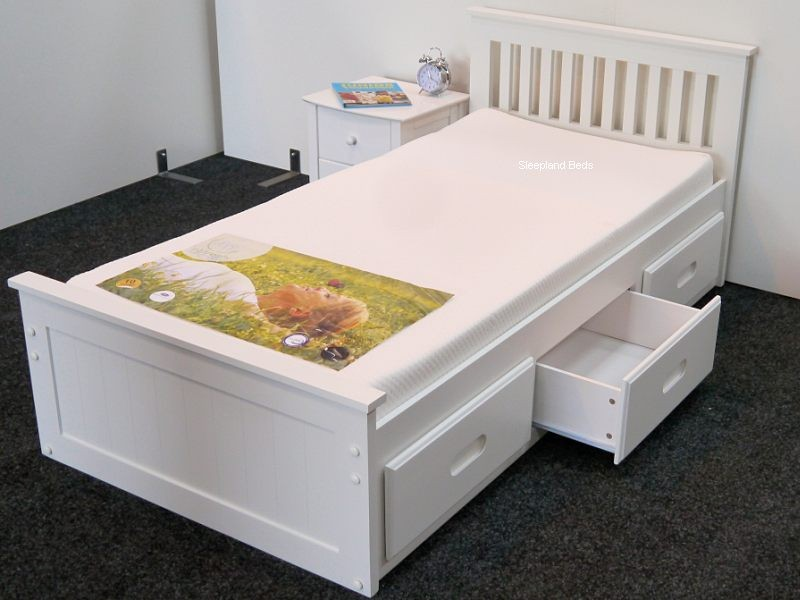 Single Bed Frame With Storage Drawers