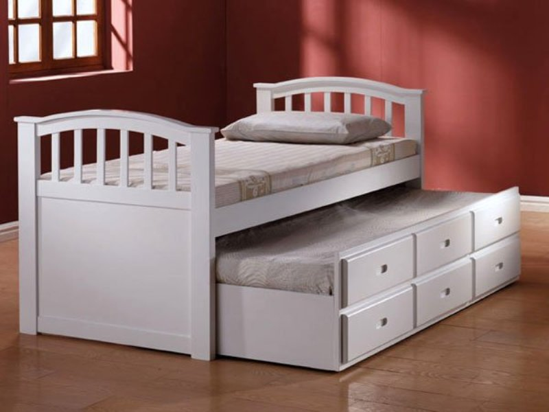 Twin Bed With Trundle And Drawers Assembly
