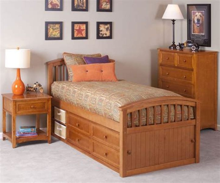 Twin Bed With Trundle And Storage Drawers