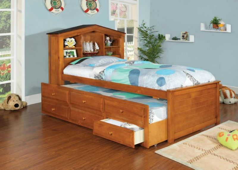 Twin Captain Bed With Trundle And Drawers
