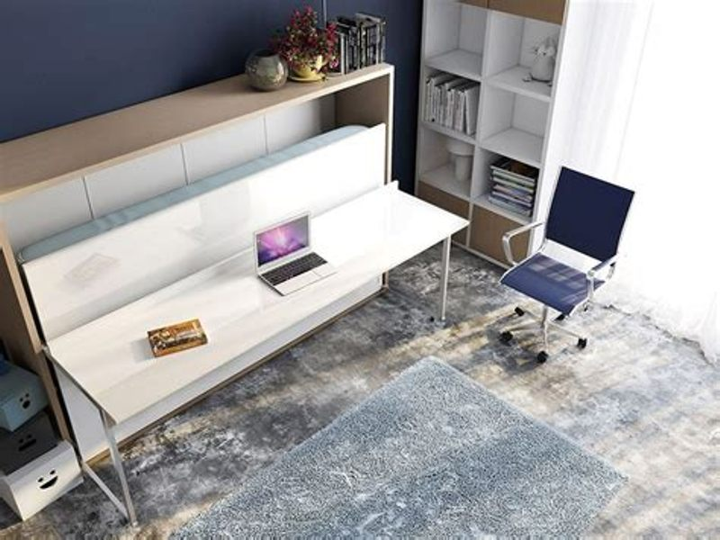 Image of: Twin Murphy Bed With Desk