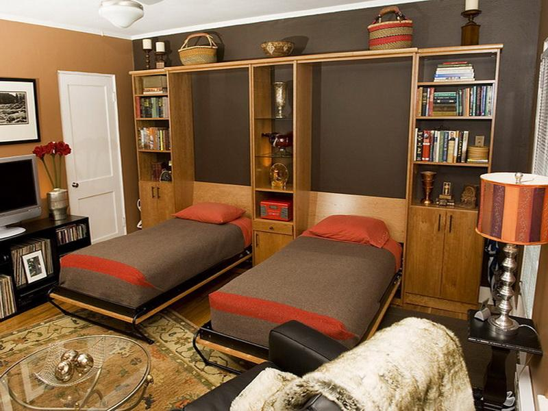 Image of: Twin Murphy Beds Wall Beds