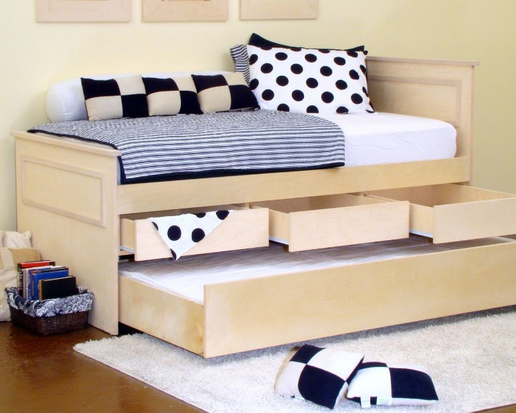 Twin Platform Bed With Trundle And Drawers