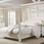 White Full Size Canopy Bed