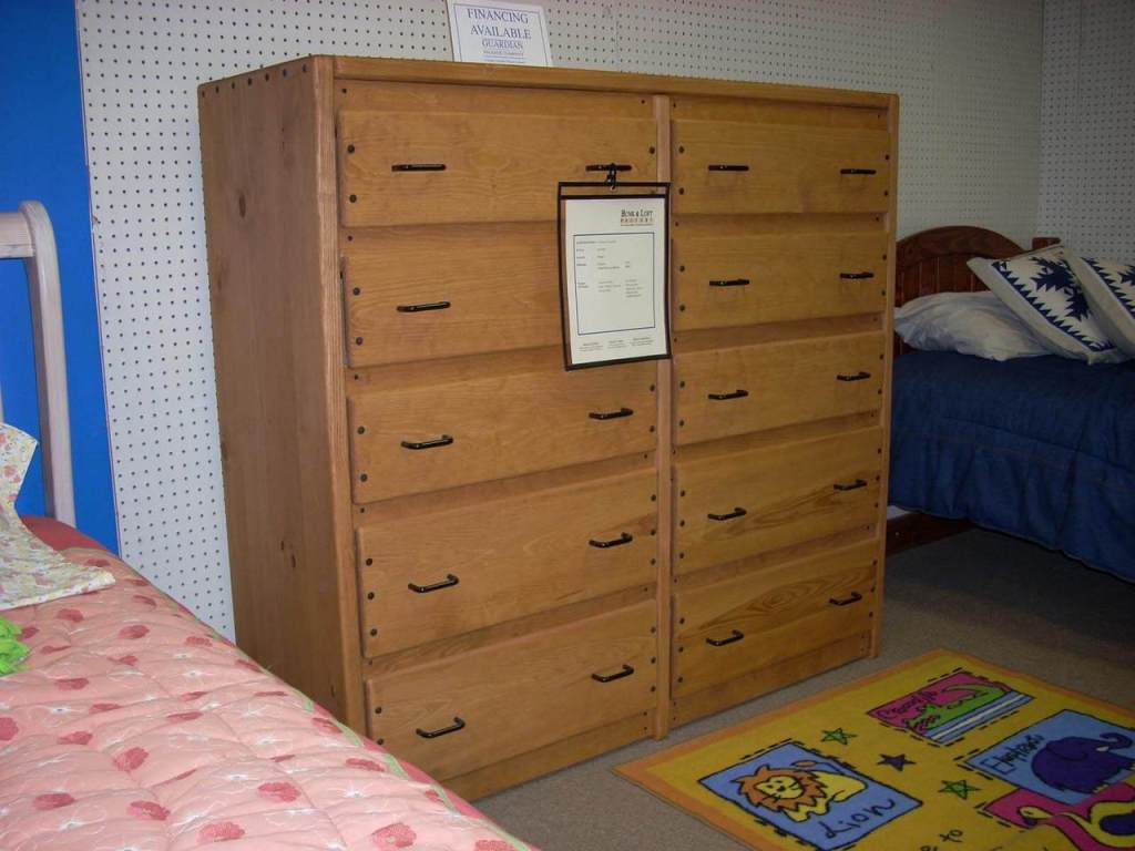 Image of: 10 Drawer Double Dresser
