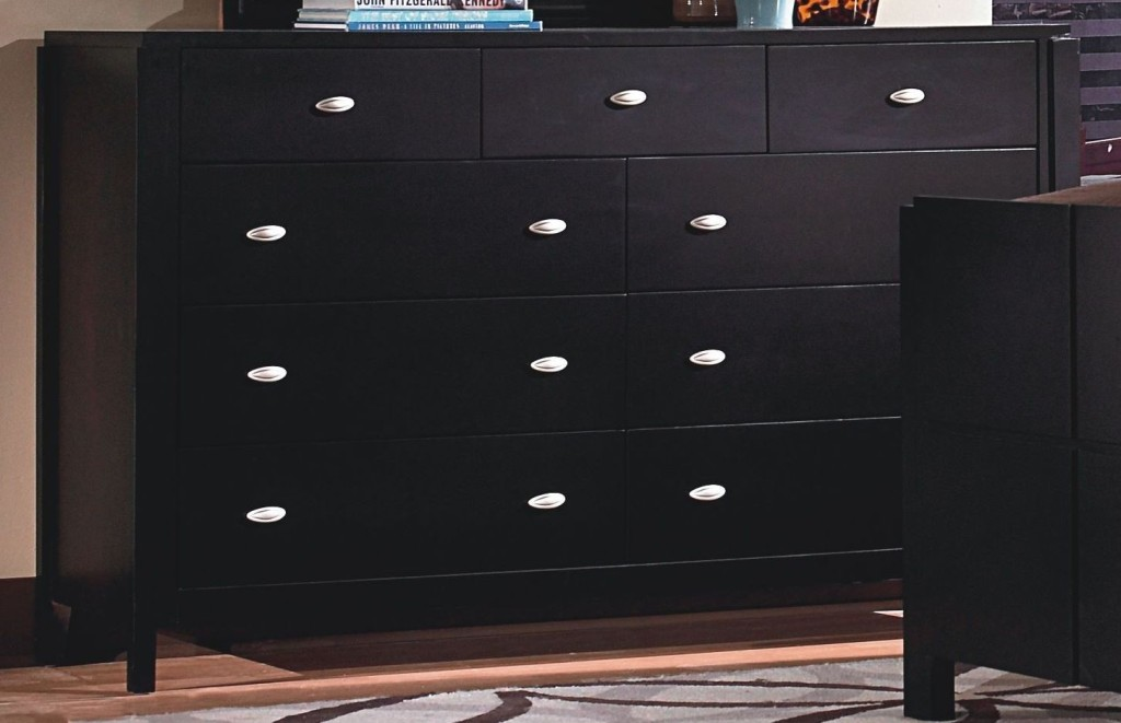 Image of: 10 Drawer Dresser Black