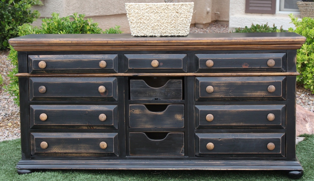 Image of: 12 Drawer Dresser Black