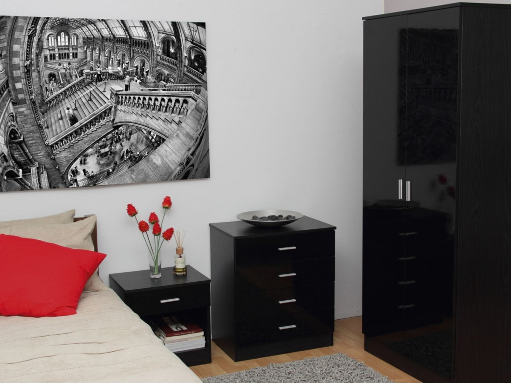 Image of: 3 Piece Dresser Set Black