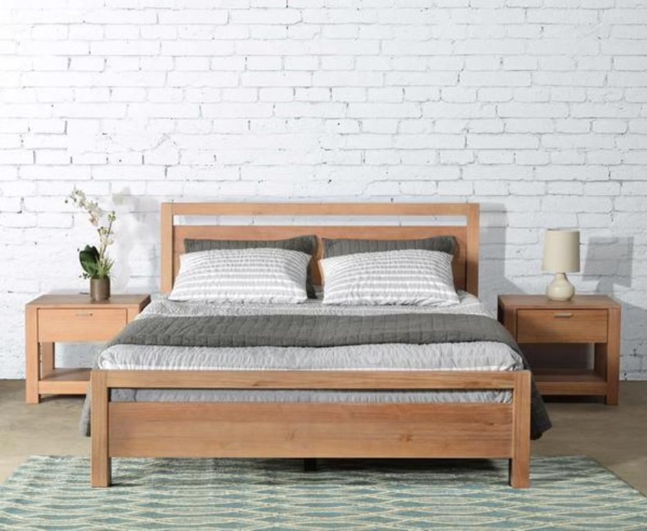 Image of: Acacia Wood Bed