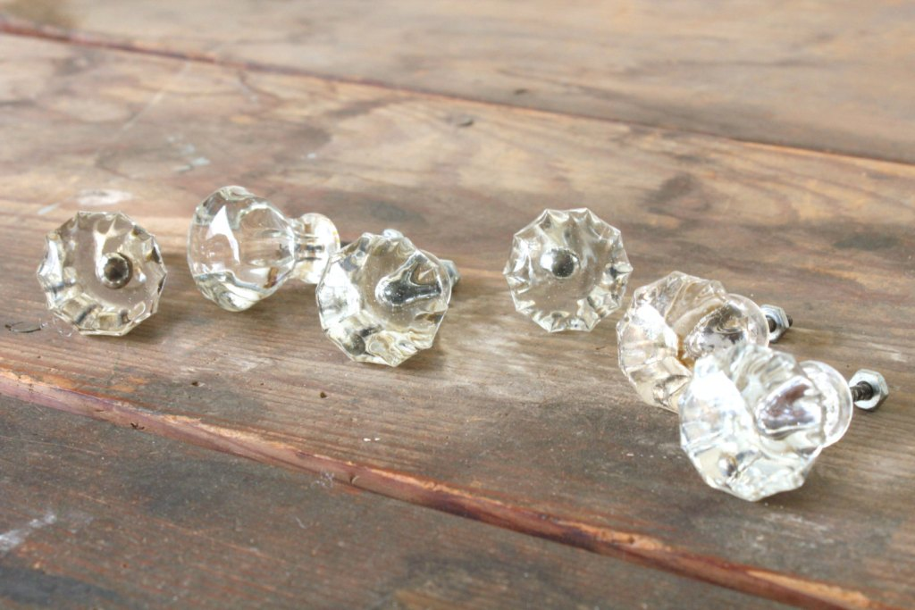 Picture of: Antique Glass Dresser Knobs