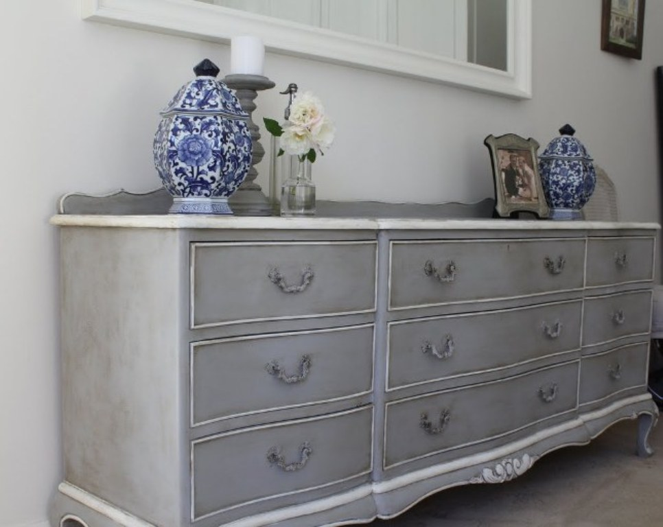 Antique Grey Dresser