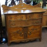 Antique Oak Bow Front Dresser